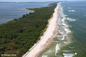 Plaża Naturystów w Chałupach - źródło: www.chalupy.net.pl